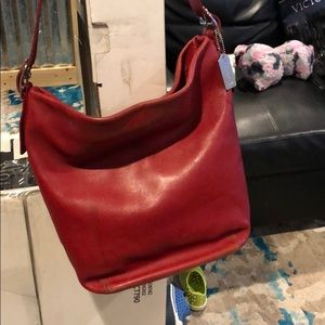 Red Coach tote